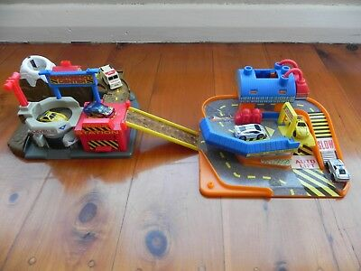 Small Car Playsets (x2) with Cars (x6)