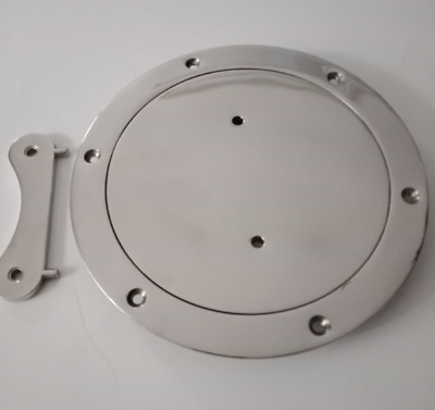Inspection Port / Deck Plate 206 mm OD 316 Stainless Steel with key 160mm ID