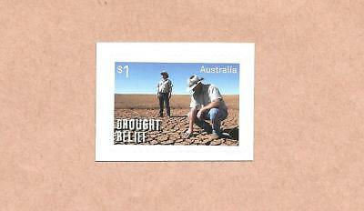 """2018 Australian """" Drought Relief """" ~ S/a Stamp From A Booklet ~ Mint Un Hinged"""