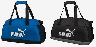 d6a2a7d6aa Puma Phase Sports Small Duffel Bags Running Black Blue GYM Bag Sacks  07494227