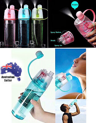 400/600ML Sport Yoga Cycling Mist Spray Water Gym Bottle Leak-proof Drinking/Cup