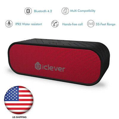 Portable Bluetooth Speakers Waterproof Speakers Dual Passive Driver 3.5mm Aux