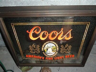 Coors Lighted Beer Sign