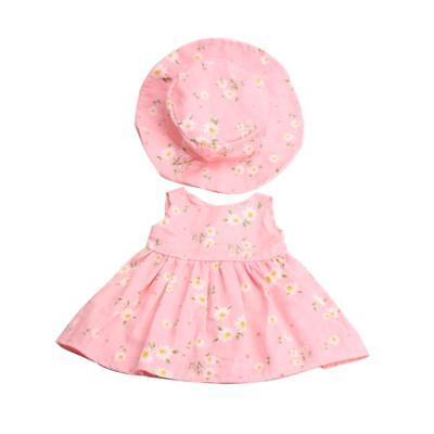 "Fancy Clothes Outfit for 18"" American Girl Zapf Baby Born Dolls Dress Hat"