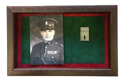 Large RUC Medal Display Case With Photograph For 2 Medals