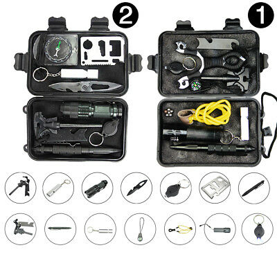 Emergency Survival Equipment Kit Outdoor Sports Tactical Hiking Camping Tool Kit