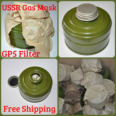 3pcs Set USSR Russian Military GP5 Gas Mask Replacement Filter Сharcoal Sealed