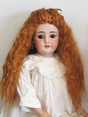 "Wig for modern Artist doll and French Antique doll-sz10/11""(26/27cm)-carrot red"