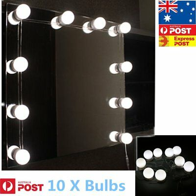 Hollywood Mirror Vanity LED Light Makeup Dressing with 10 Bulb USB Charging S M+