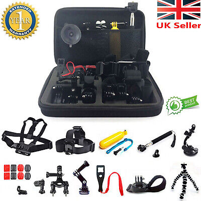 26 in 1 Accessories Kit Head Chest Monopod Mount For GoPro Hero 3/4/5 Session UK