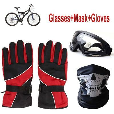 Outdoor Sport Ski MTB Bicycle Protect Glasses Warmer Mask Gloves Winter Gift set