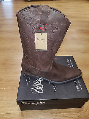 0d9bf1ec43f MENS WRANGLER TEX Hi Leather Cowboy Boots Size Uk 7 - 12 Western ...