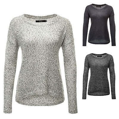 Vero Moda Damen Strickpullover Pullover Sweater O-Neck Jumper Shirt Top Casual