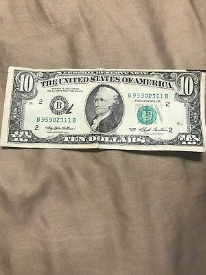 Old Style $10 Bill-Rare From 1993 Currency