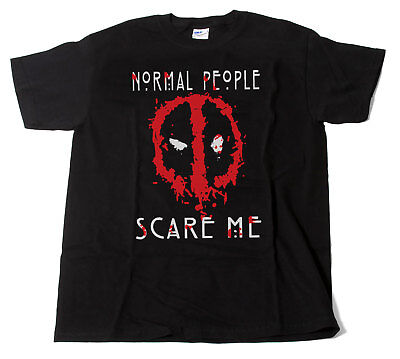 Deadpool Comedy T-Shirt Normal People Scare Me Men's & Ladies Unisex Fit Gift