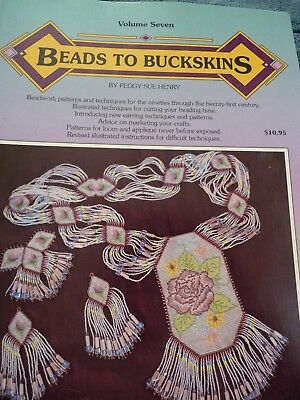 Beads to Buckskins Vol. 7  Patterns & Design Book 1993 perfect condition beading