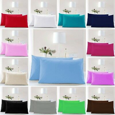 Pillow Case Luxury Cases Polycotton Housewife Pair Pack Bedroom Pillow Cover