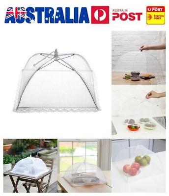 1x Large Collapsible Mesh FOOD COVER Dome Pop Up Plate Umbrella Fly Wasp Net AU