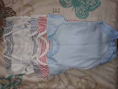 6 Baby Vests 0-3 used