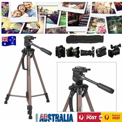 WT Aluminum Tripod Tilt Pan Head Stand For Camera DSLR Camcorder for SONY Canon