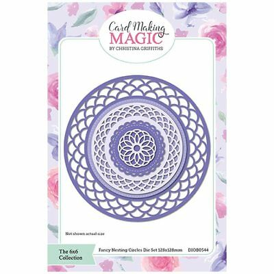 Card Making Magic Die Set Fancy Nesting Circles 6in x 6in by Christina Griffiths