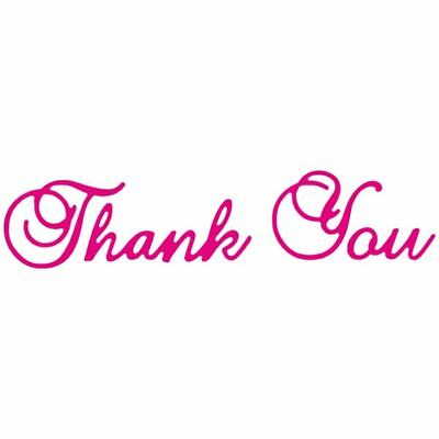 CraftStash Metal Hot Foil Stamp Thank You Sentiment | 25 x 106mm
