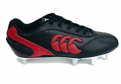 Canterbury Phoenix Club 2.0 Soft Ground Rugby Boots Black Red