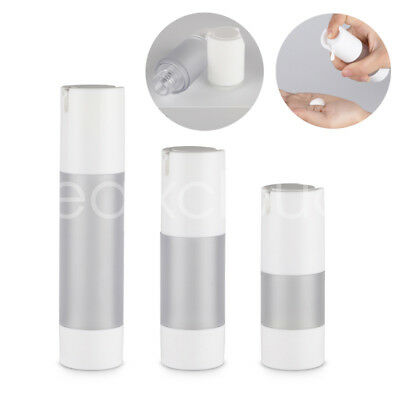 Bulk 15ml 30ml 50ml Refillable Empty Frosted Airless Vacuum Lotion Pump Bottle