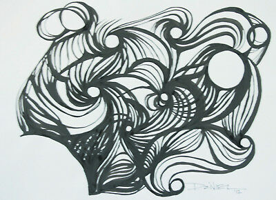 India Ink Minimalist Abstract Drawing  by Daniel Solone