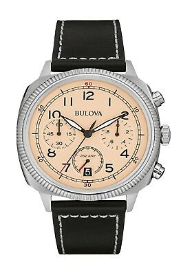 Bulova Men's Military Collection UHF Quartz Leather Strap 43mm Watch 96B231