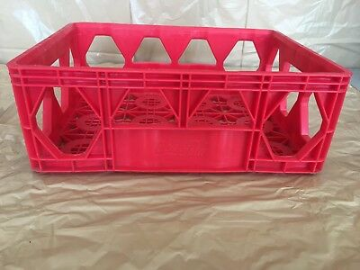 Lot Of 18 Red Plastic Coca-Cola Coke Stacking Bottle Carrier Crate