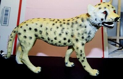"""Cheetah Figure Hard Plastic Toy 10"""" Long & 5.5"""" Tall, Great Condition"""
