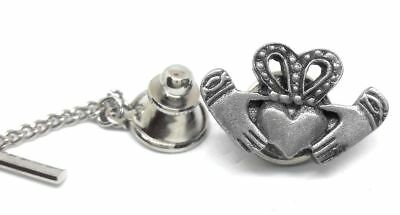 Pewter Claddagh Tie Tack / Lapel Pin