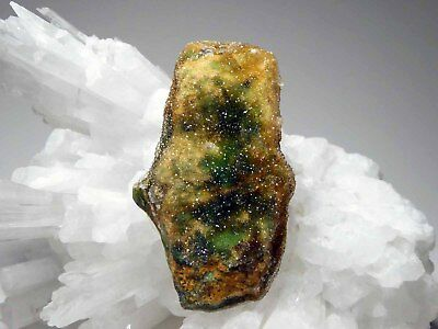Drusy Chrome Chalcedony Gemstone Pendant Natural Green Orange Druzy Crystals