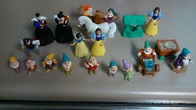 Disney Snow White and the Seven Dwarfs Figures Vintage Toys 1993 Mattel and MORE