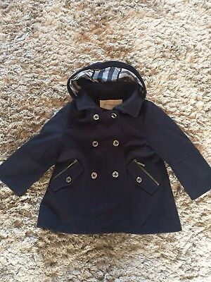 Burberry Girls Age 18 Months Wool Coat