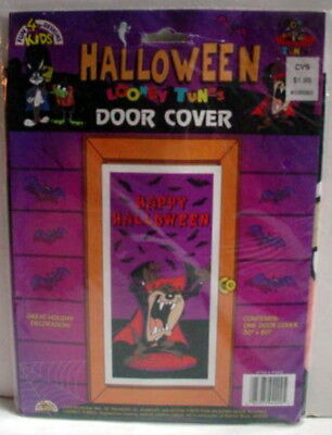 1996 Looney Tunes Halloween Decoration Taz Tasmanian Devil Door Cover as Dracula
