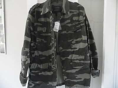 Boys Olive/brown Jacket Size Xs By 21Men New With Tags