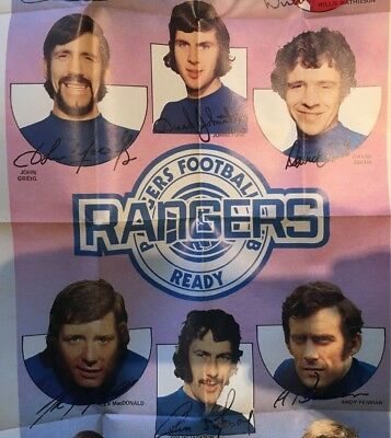 A & BC GUM FOOTBALL GIANT TEAM POSTERS 1973 No. 15 RANGERS F.C. - LOW START!!!!