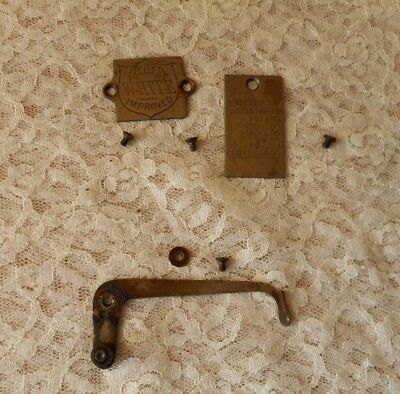 Antique 1881 White Treadle Sewing Machine 2 Front Covers And Thread Take Up