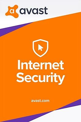 Avast INTERNET SECURITY 2019, 3 PCs 1 Year (LATEST DOWNLOAD VERSION)