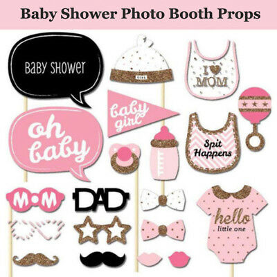 20 Baby Shower Photo Booth Props Little Lady Girl New Born Party Decoration Cute