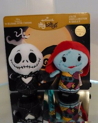 2017 Hallmark Itty Bittys Jack Skellington & Sally Limited Edition Set