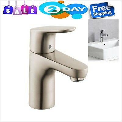 Faucet Single Hole Brushed Nickel Boltic Lever Lock German Design Solid Brass
