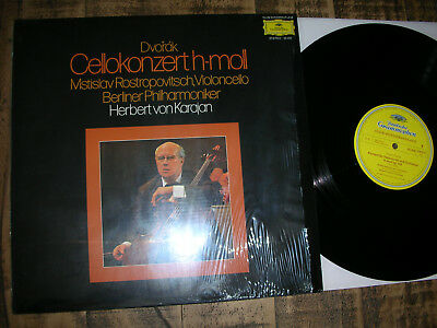 M-/nm  Dvorak Cello Konzert Rostropovitch / Karajan  Dgg Lp Vinyl