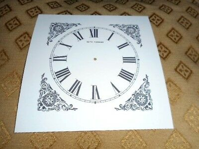 "Seth Thomas Shelf/Mantle Paper Clock Dial- 4 1/8"" M/T-Roman- Clock Parts/Spares"