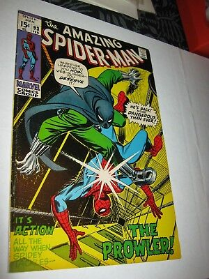 Marvel Comic Amazing Spider-Man 1963 Series 93 FN/VF 7.0+ Prowler 1971 Romita