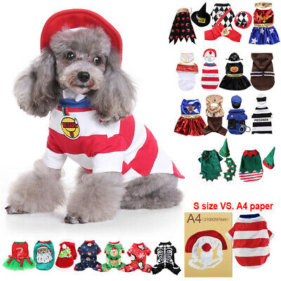 Puppy Pet Cute Party Dress up Winter Clothing Coat Fancy Clothes For Small Dogs
