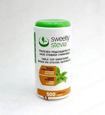SWEETLY STEVIA 500 tabs Enriched with chicory fibres, Diabetics Suitable EU made