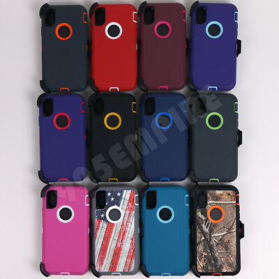 for iPhone XR/XS/11/ 11 Pro/MAX Defender Case With Clip fits Otterbox